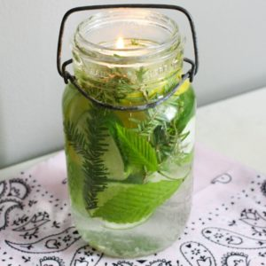 mosquito repellent in mason jar