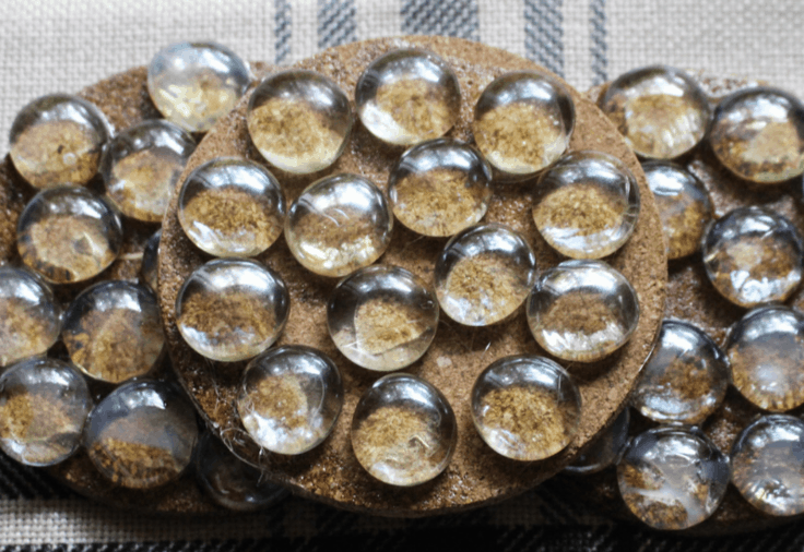glass gemstone coasters