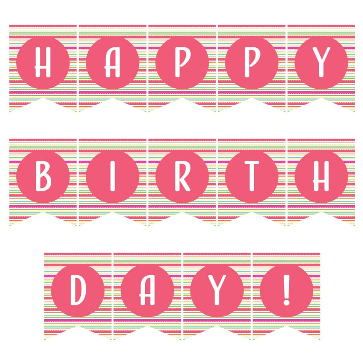 graphic relating to Printable Happy Birthday Banner named Birthday Banner Printable Totally free Obtain Guidelines for the Dwelling