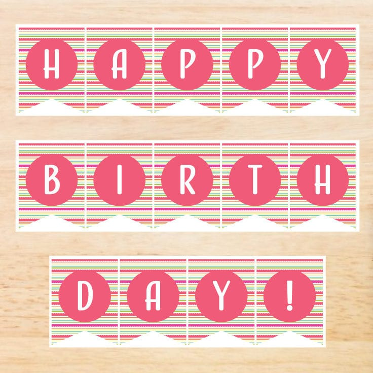 Birthday Banner Printable Free Download | Ideas for the Home