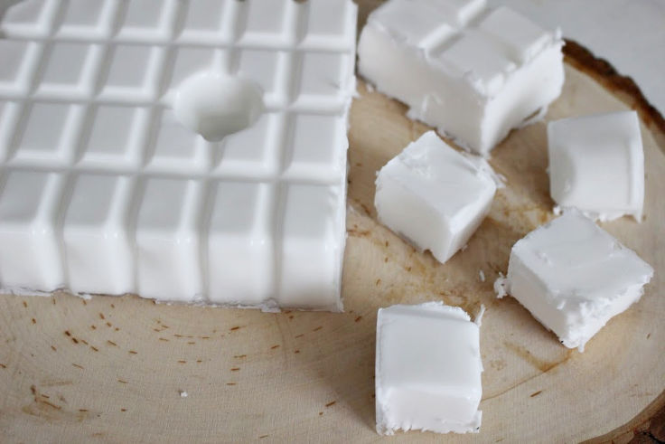 cut up soap on board