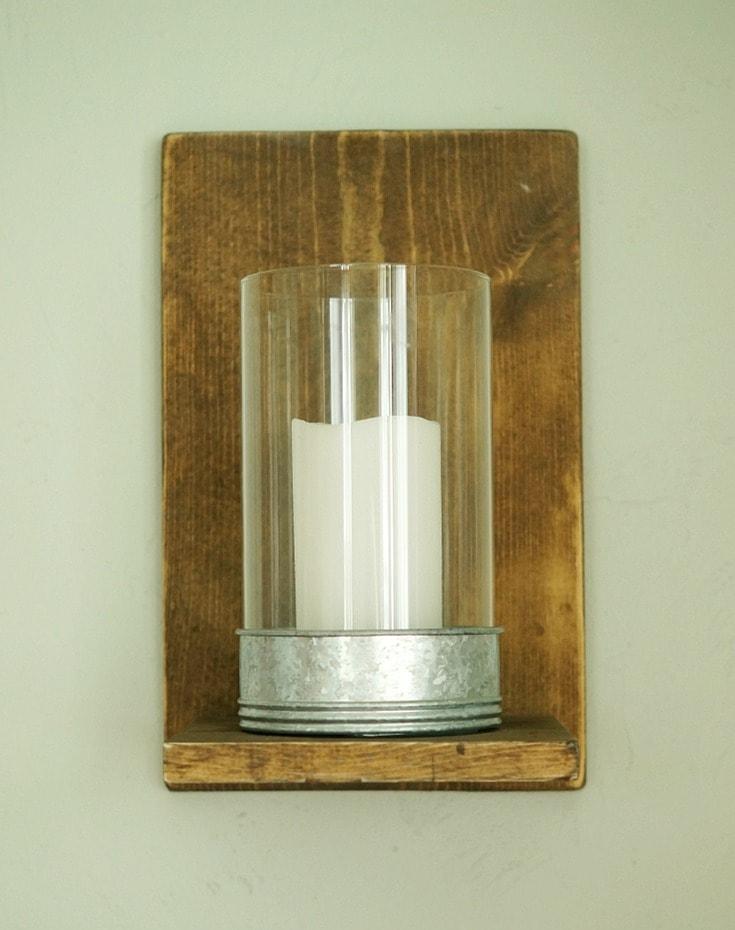 Easy DIY Wood Wall Sconces