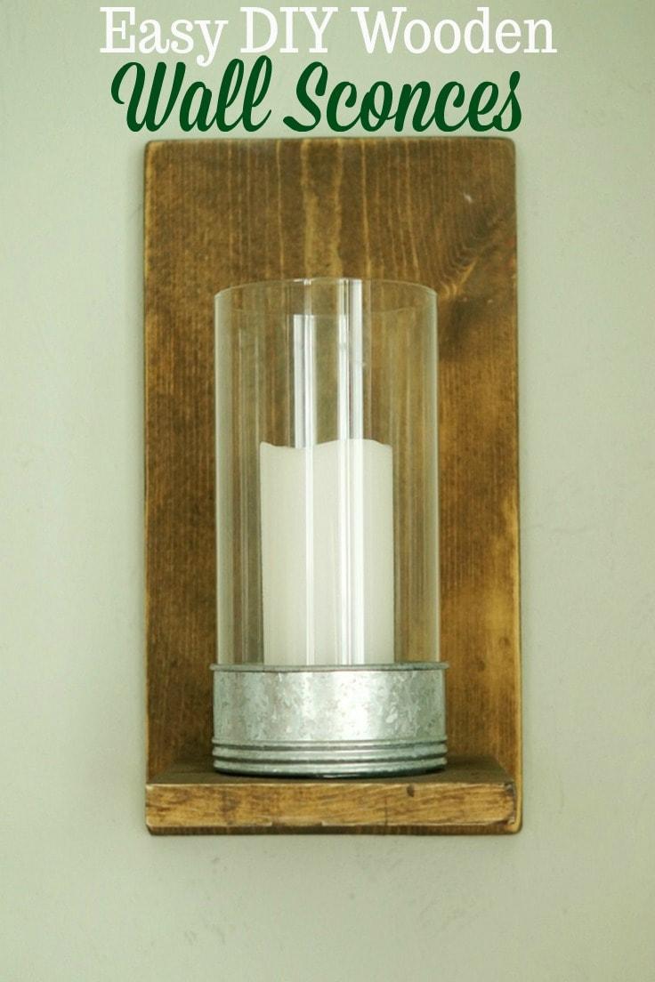 Easy DIY Wooden Wall Sconces