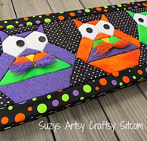 Hooty Owl No-Sew quilted wall art.  Free pattern!