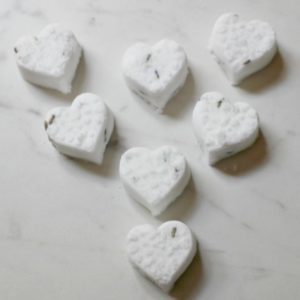 heart shaped shower melts
