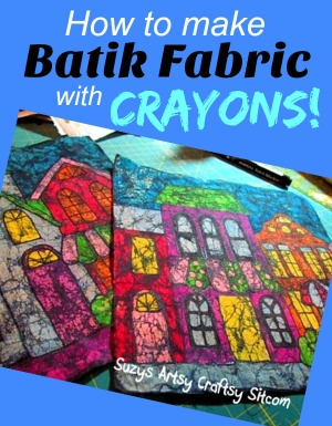 How to make Batik Fabric with Crayons!