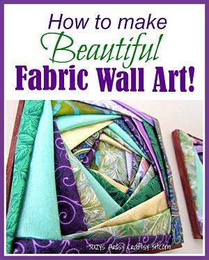 How to make beautiful fabric wall art! Free pattern!