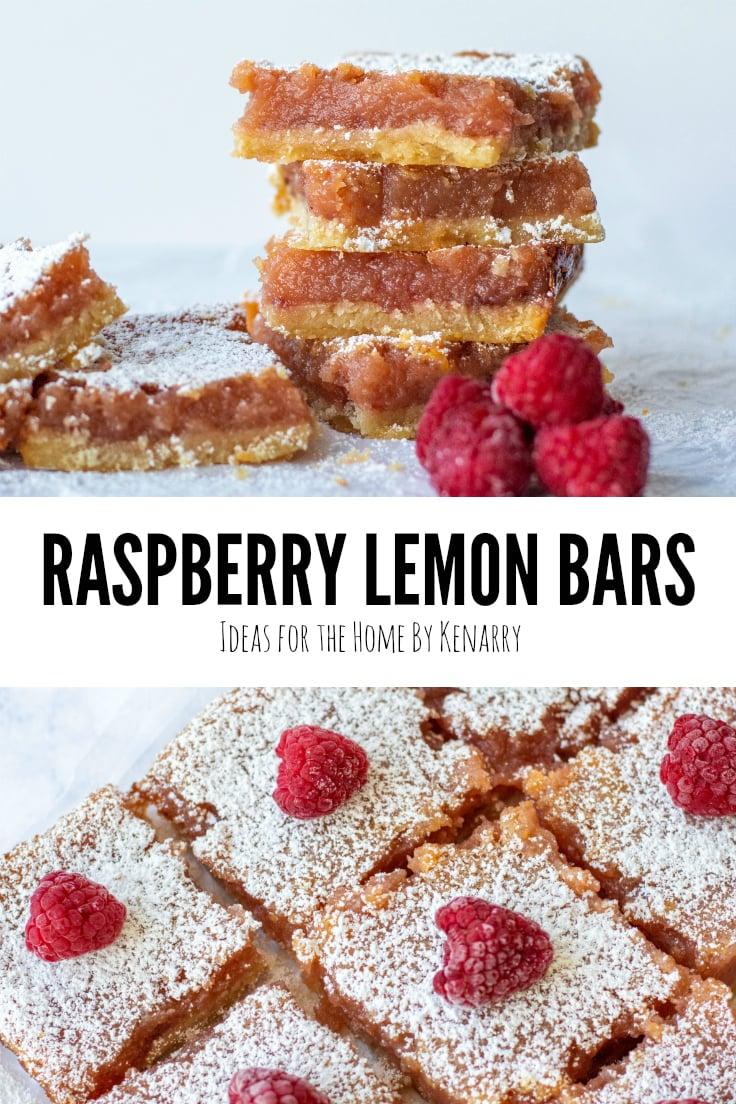 Raspberry Lemon Bars - Ideas for the Home by Kenarry