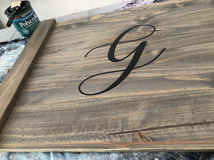 Using polycrylic sealant on wood