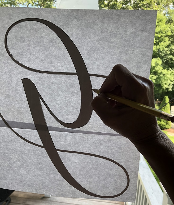 How to transfer a monogram onto a piece of wood.