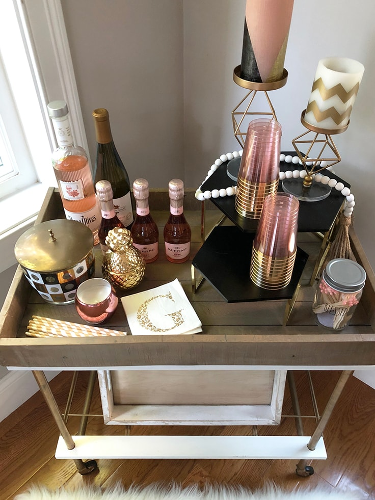 How to Style a Bar Cart - Add some candles and other fun pieces of decor