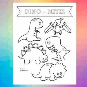 Preview of dinosaur coloring pages