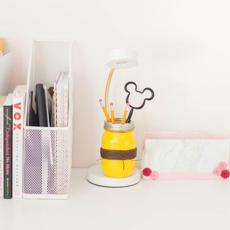 DIY Mason Jar Pencil Holder
