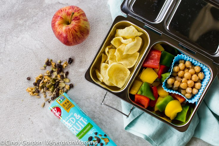 Vegetarian school lunch idea