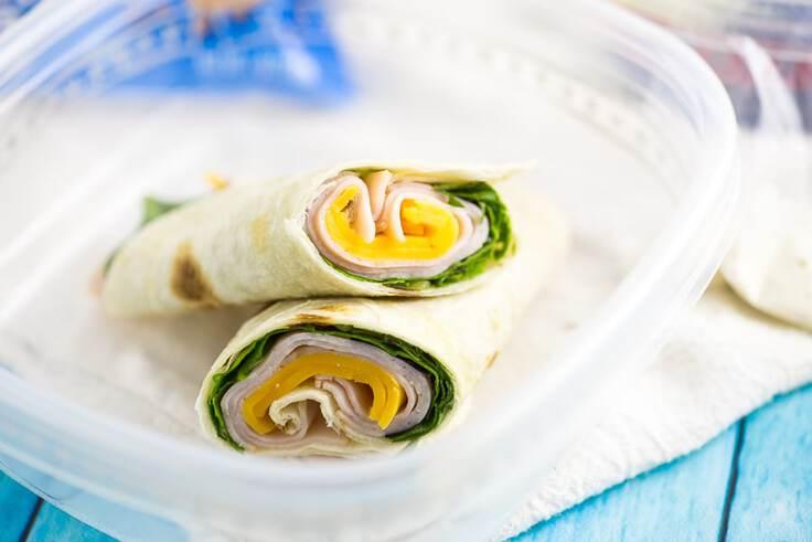 Turkey wraps back to school lunch