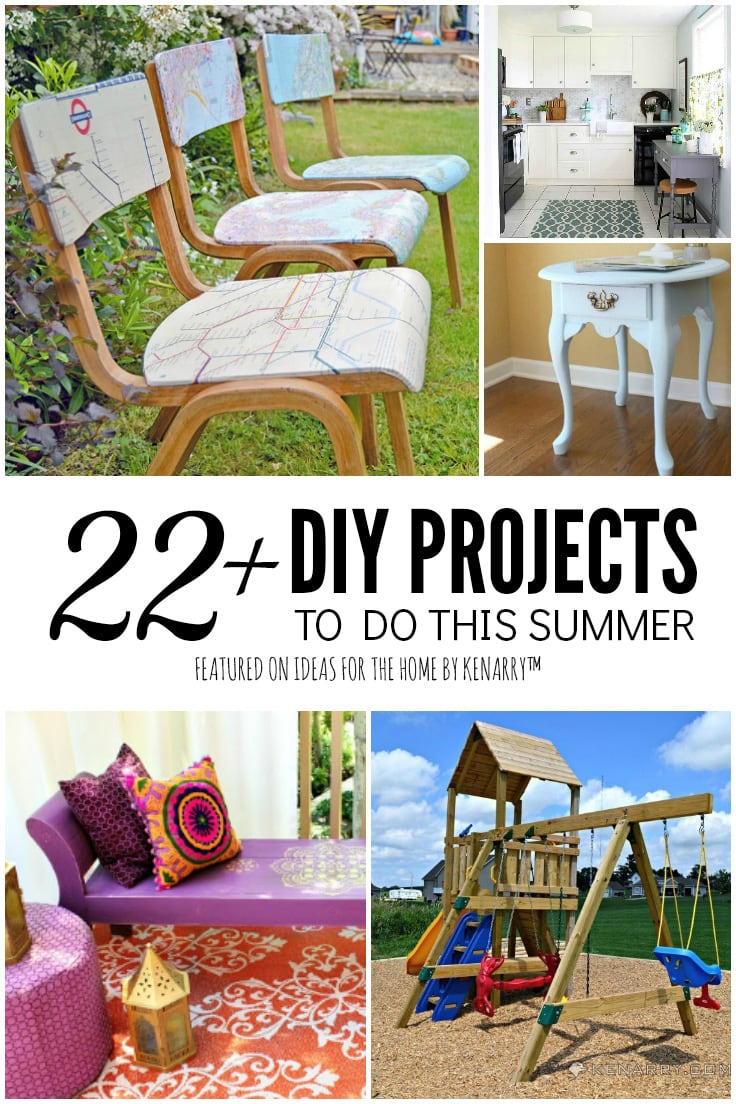 22 Plus DIY Ideas to Do This Summer featured on Ideas for the Home by Kenarry