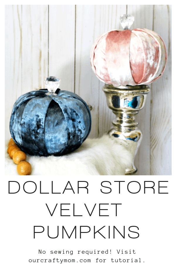 How To Make Beautiful DIY Dollar Store Velvet Pumpkins