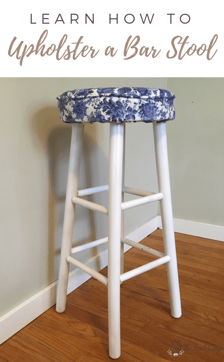 Learn how to upholster a bar stool