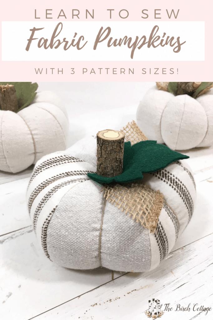 Free Fabric Pumpkin Pattern (In 3 Sizes)