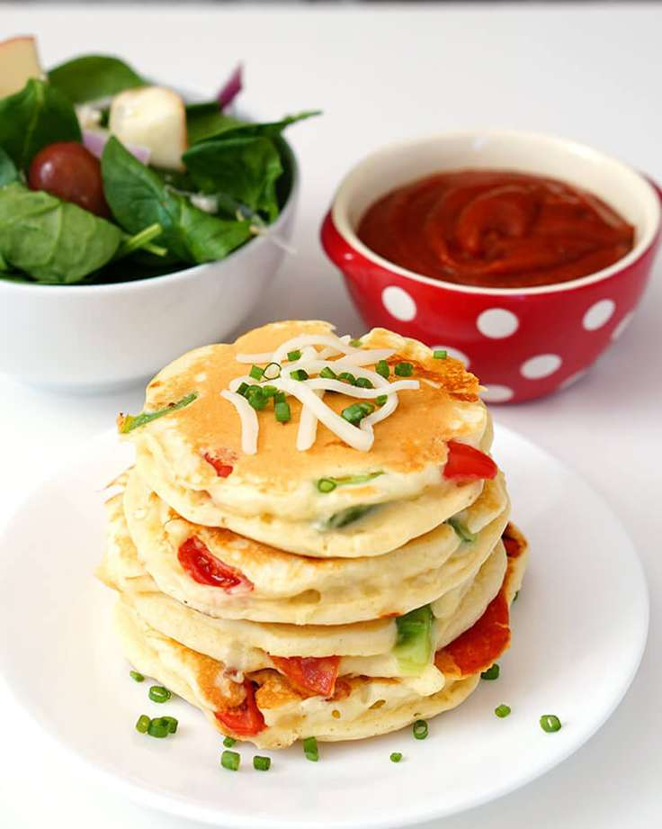 Pizza pancakes for school lunches