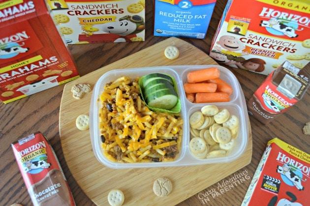 Taco Macaroni for school lunch