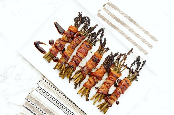 Bacon Wrapped Balsamic Asparagus
