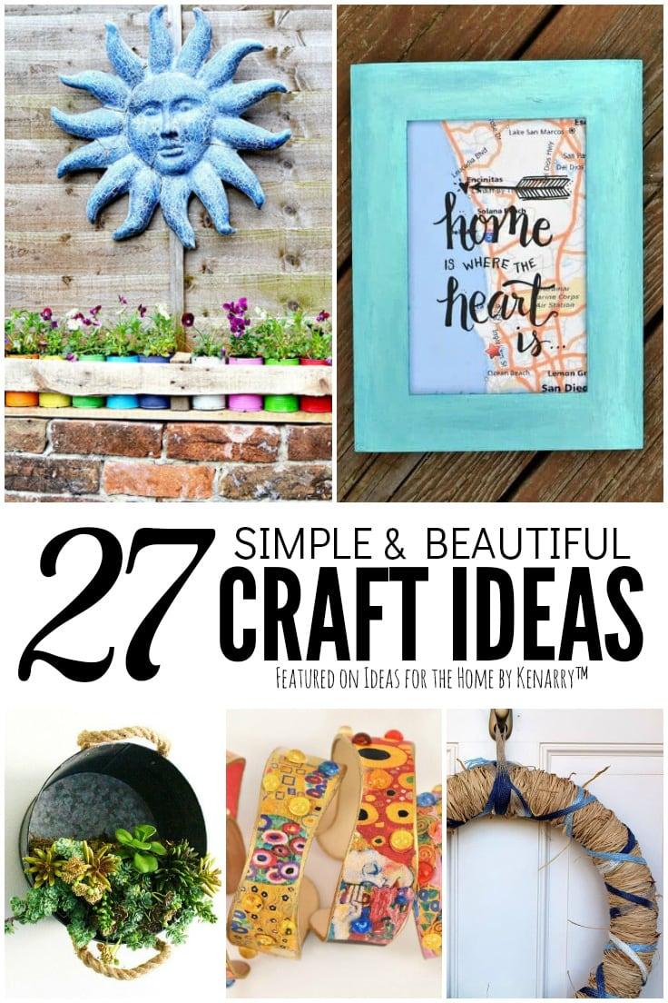 27 Simple and Beautiful Craft Ideas featured on Ideas for the Home by Kenarry