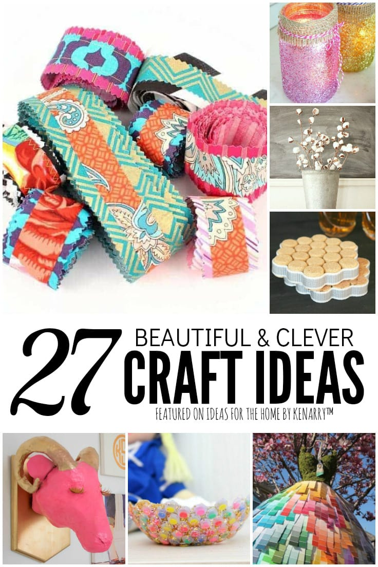 27 Beautiful and Clever Craft Ideas featured on Ideas for the Home by Kenarry