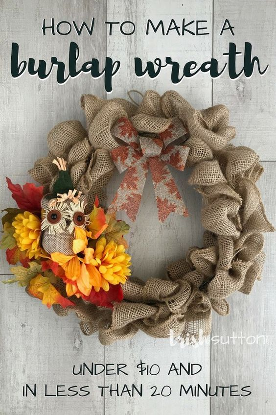 Burlap Wreath for Fall by Trish Sutton