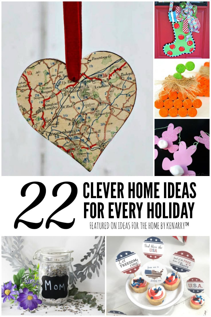 22 Clever Home Ideas for Every Holiday featured on Ideas for the Home by Kenarry