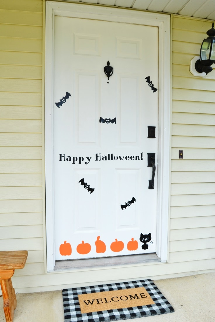 DIY Halloween Door Decorations Are Easy with Vinyl