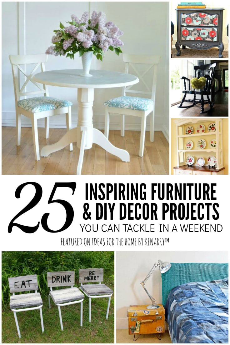 25 Inspiring Furniture and DIY Decor Projects You Can Tackle in a Weekend featured on Ideas for the Home by Kenarry