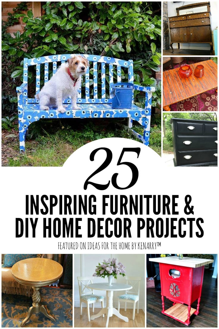 25 Inspiring Furniture and DIY Home Decor Projects featured on Ideas for the Home by Kenarry