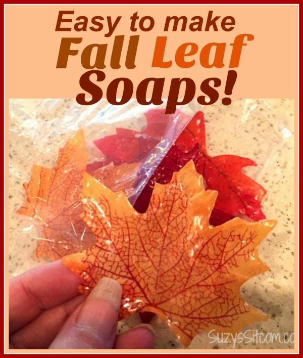 Easy to make Single Use Fall Leaf Soaps!