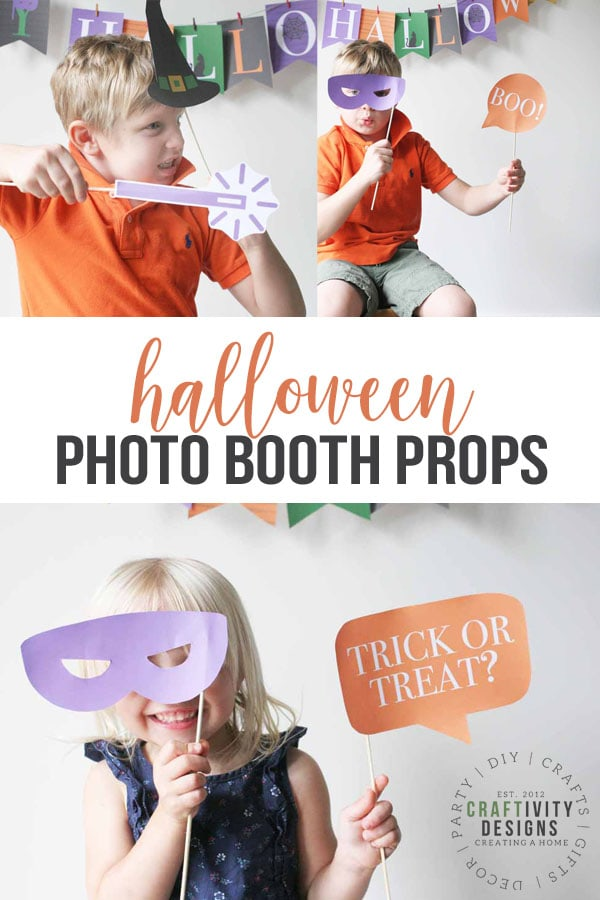 How to Make Halloween Photo Booth Props (+ a Free Printable)