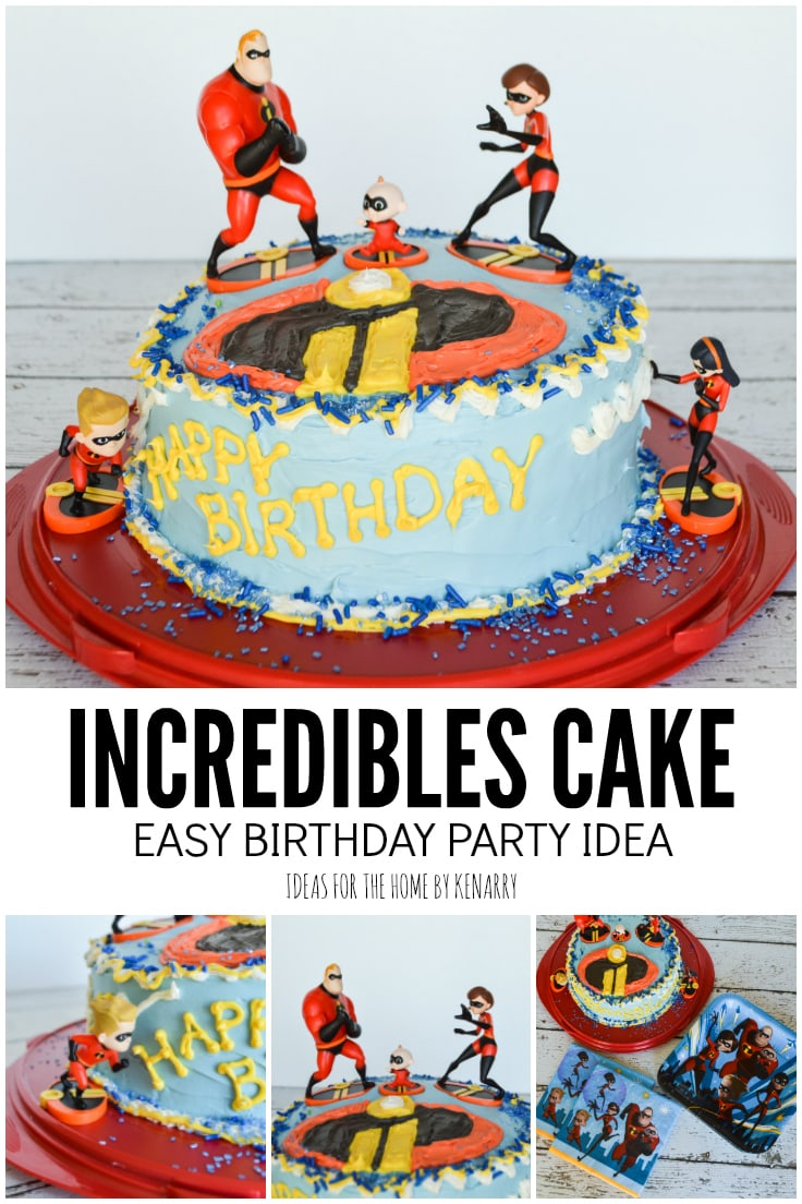 Incredibles Cake, Easy Birthday Party Idea from Ideas for the Home by Kenarry