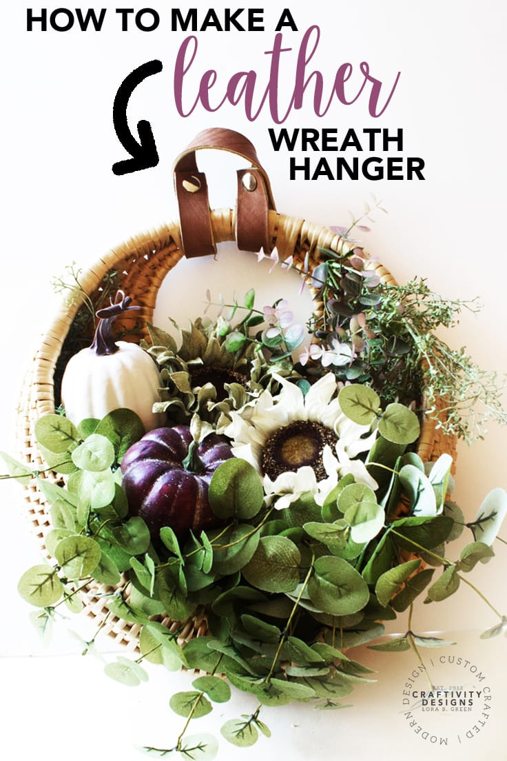 How to Make a Leather Wreath Hanger for a Fall Wreath