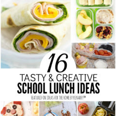 16 Tasty & Creative School Lunch Ideas featured on Ideas for the Home by Kenarry