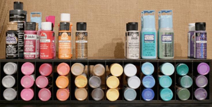 Upcycled Craft Paint Storage
