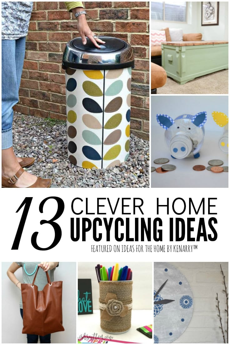 13 Clever Home Upcycling Ideas featured on Ideas for the Home by Kenarry