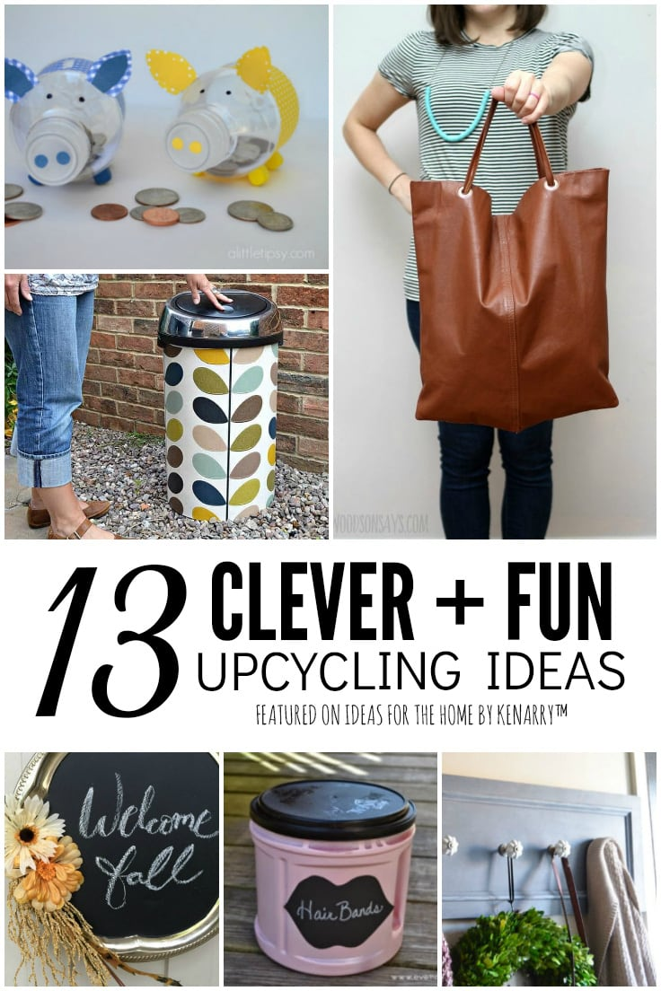 13 Clever and Fun Upcycling Ideas featured on Ideas for the Home by Kenarry
