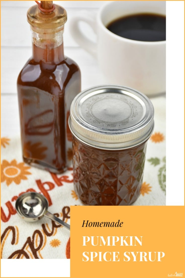Homemade pumpkin spice syrup recipe
