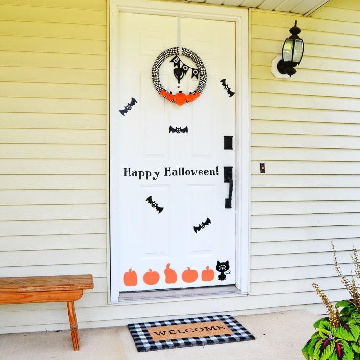 DIY Halloween Door Decorations Are Easy with Vinyl