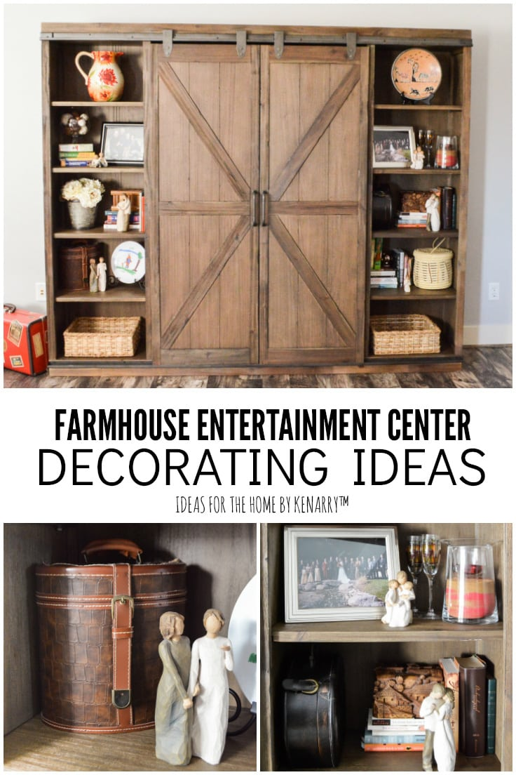 Farmhouse Entertainment Center Decorating Ideas - Ideas for the Home by Kenarry