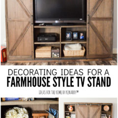 Decorating Ideas for a Farmhouse Style TV Stand - Ideas for the Home by Kenarry