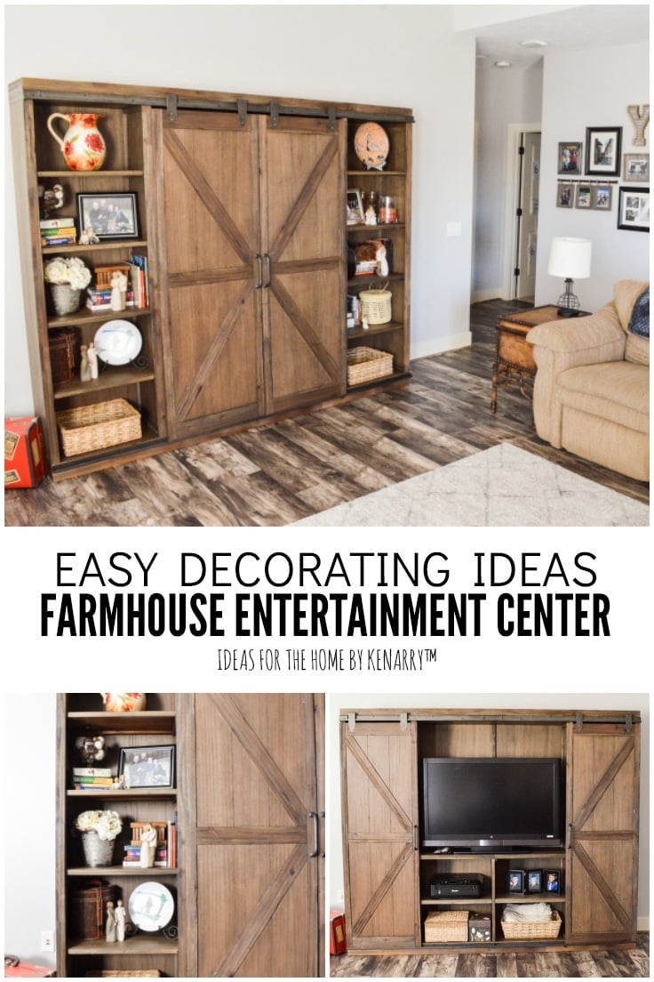 Easy Decorating Ideas Farmhouse Entertainment Center - Ideas for the Home by Kenarry
