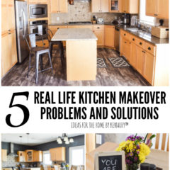 5 Real Life Kitchen Makeover Problems and Solutions - Ideas for the Home by Kenarry