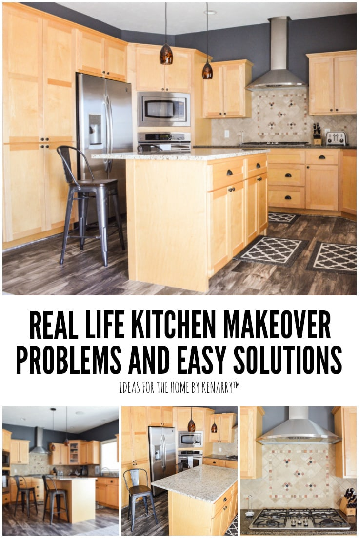 Real Life Kitchen Makeover Problems and Easy Solutions - Ideas for the Home by Kenarry