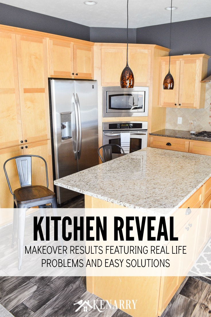 Kitchen Reveal - Makeover Results Featuring Read Life Problems and Easy Solutions