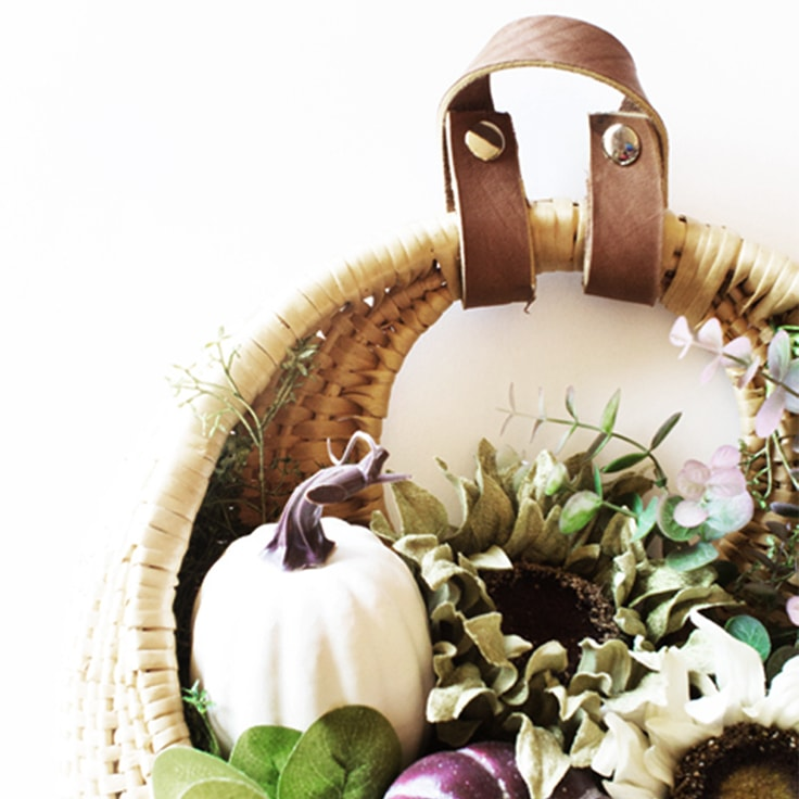 How to Make a Leather Wreath Hanger for Fall Wreaths